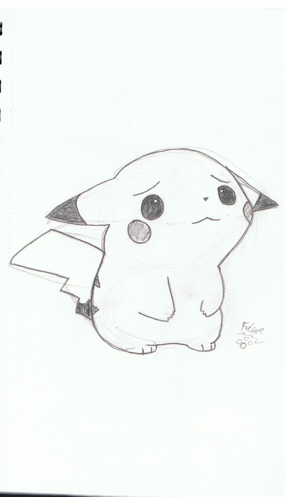 Drawn pikachu sad Drawing 2013 Little © Pikachu