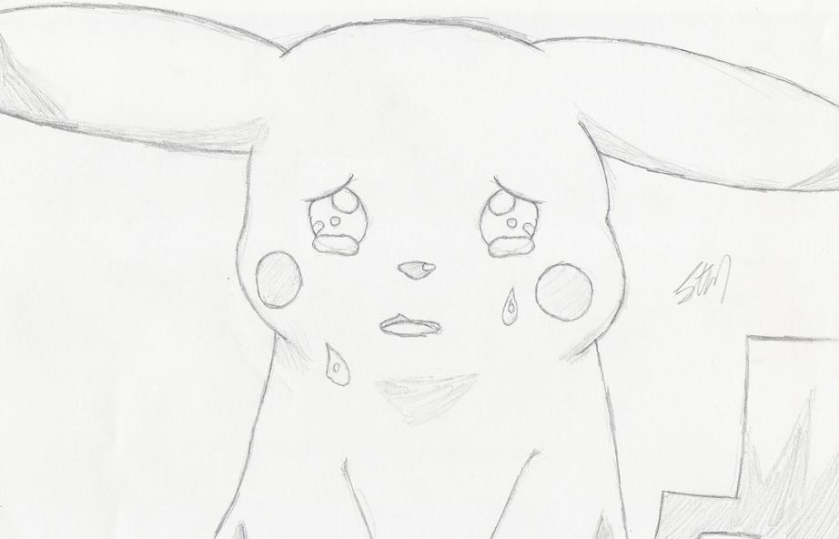 Drawn pikachu sad Sycolution Pikachu DeviantArt by by