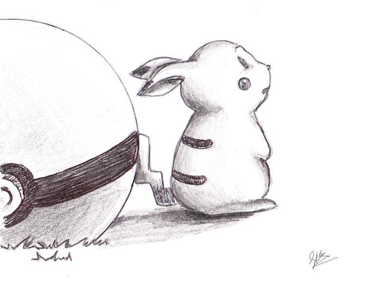Drawn pikachu sad Pikachu drawing Drawing photo#17 Sad