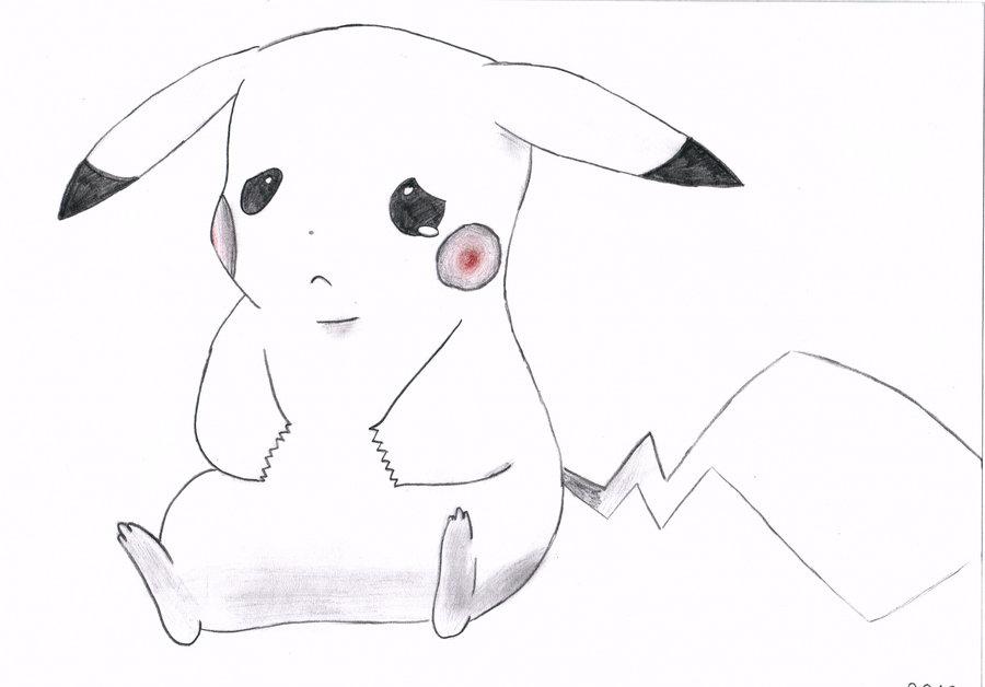 Drawn pikachu sad Pikachu drawing Drawing photo#4 Sad