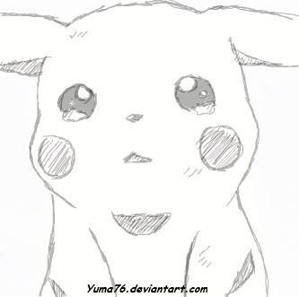 Drawn pikachu sad Sketch Pikachu Yuma76 Sketch DeviantArt