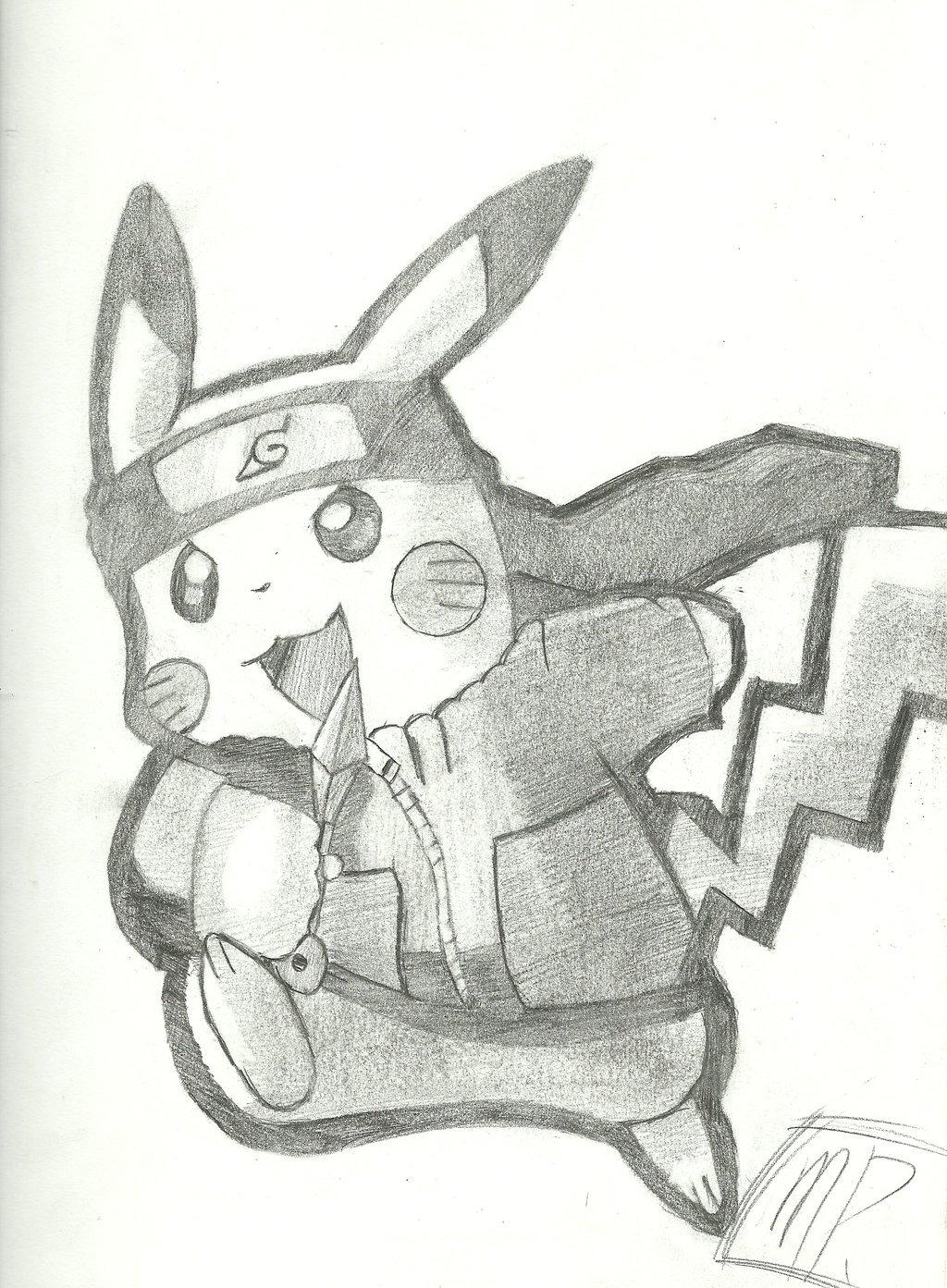 Drawn pikachu shaded Pikachu Skin  Hoodie Minecraft
