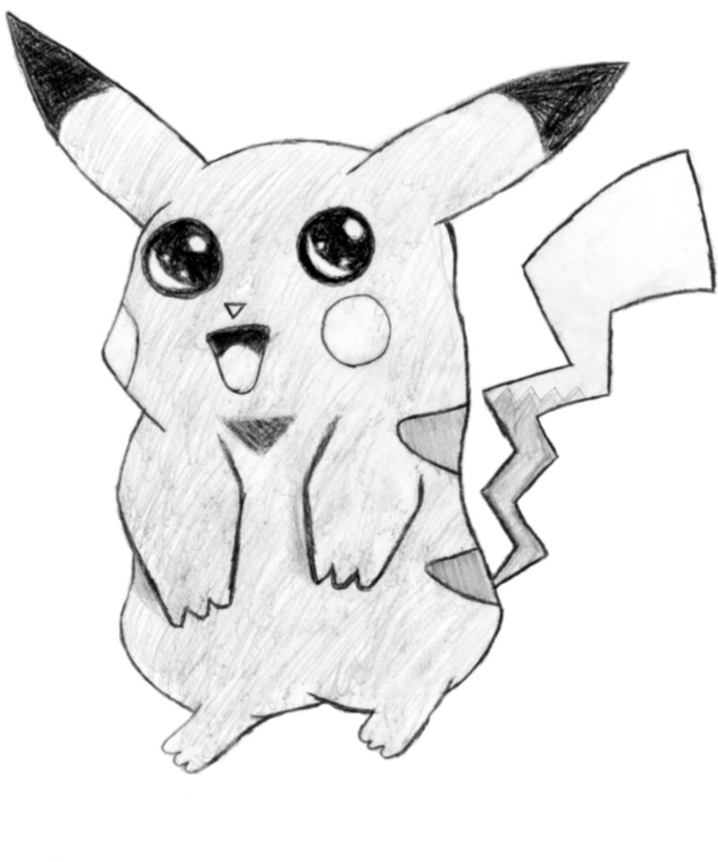 Drawn pikachu shaded By on Shmokeh by Pikachu