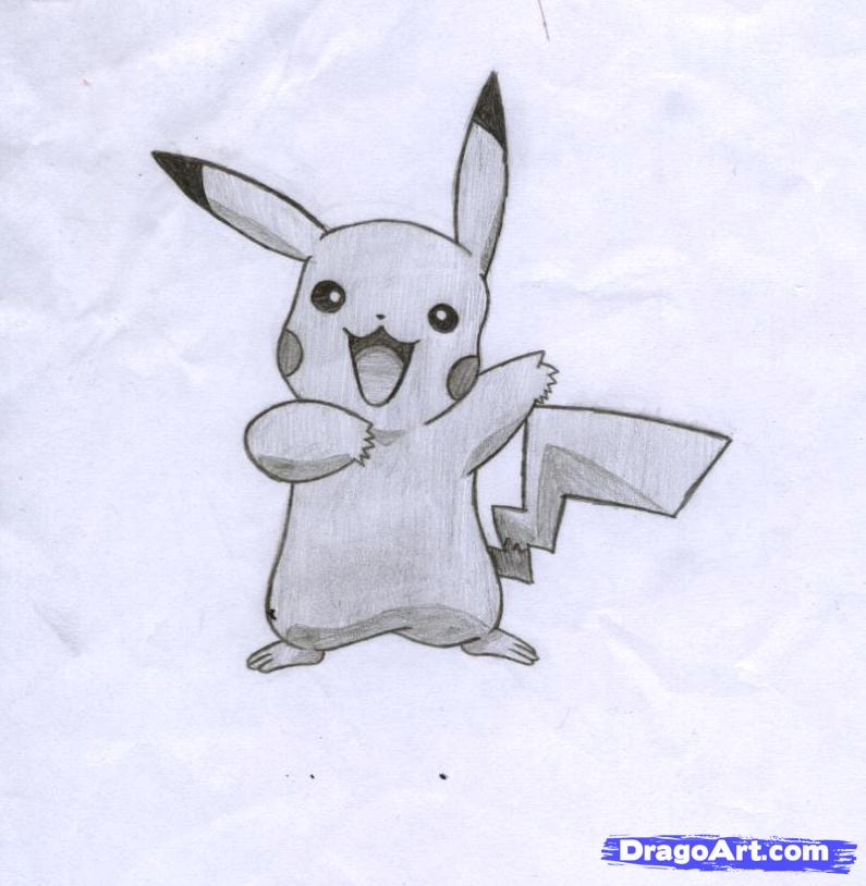 Drawn pikachu shaded Tutorial Pokemon on Anime Step