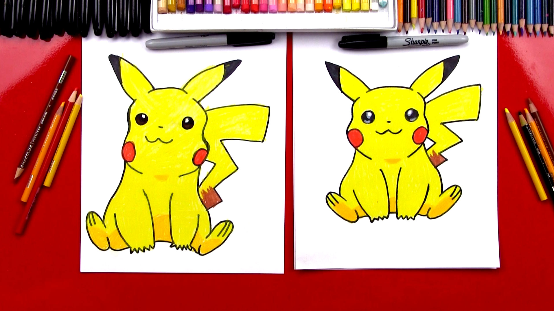 Drawn pikachu shaded For Hub Kids To Pikachu