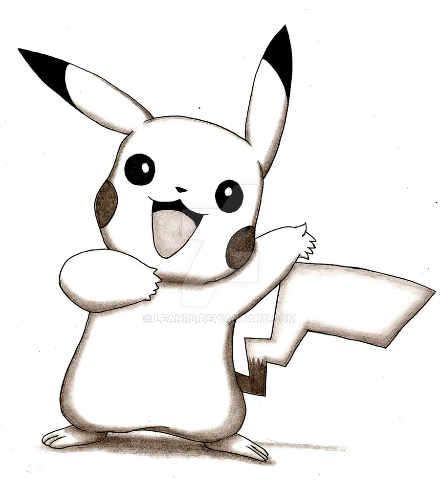 Drawn pikachu shaded By Pikachu LeanRB DeviantArt on