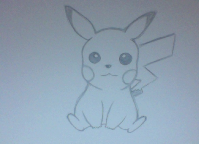 Drawn pikachu shaded 11 35 24 Pikachu Draw