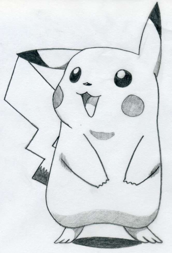 Drawn painting pikachu Pikachu Draw To Pinterest easy+pictures+to+draw