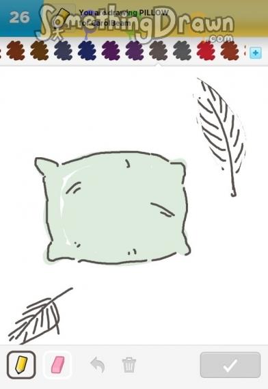 Drawn pillow Lucas Something com SomethingDrawn drawn