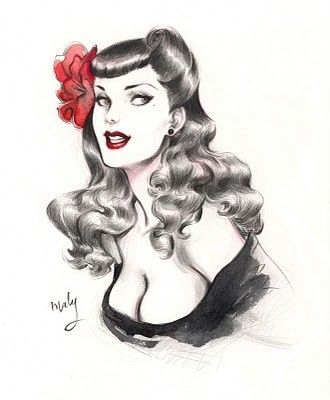 Drawn pin up  By Maly … pin Pinterest