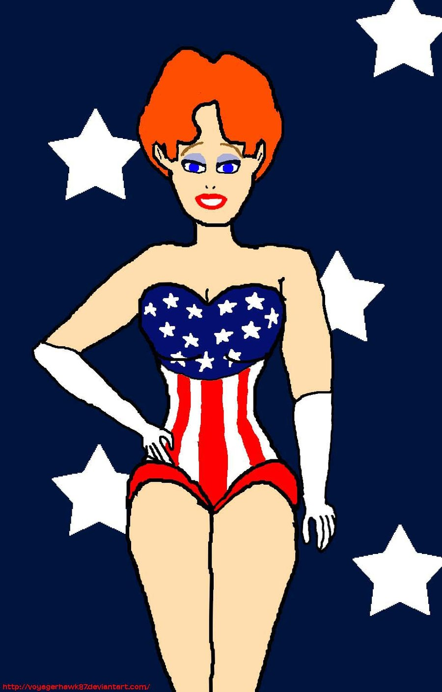 Drawn pin up  4th july On Pin Up: Riding Hot