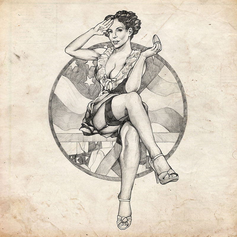 Drawn pin up  4th july Pinup Girl Brent by of