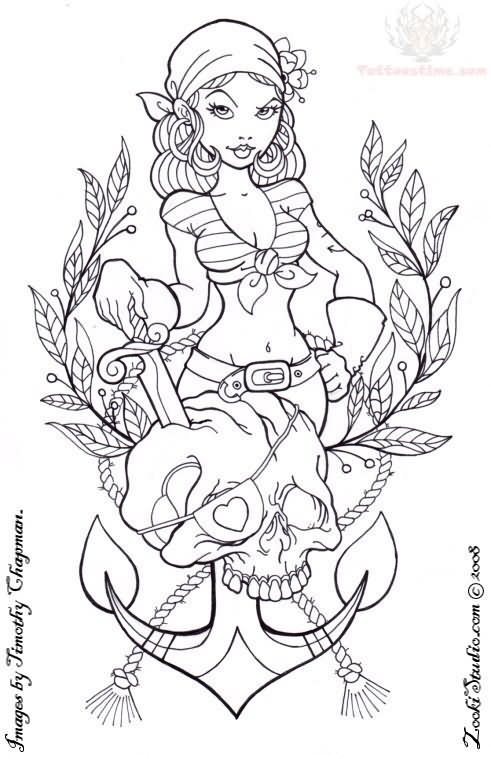 Drawn pin up  anchor Google pinup tattoo anchor …