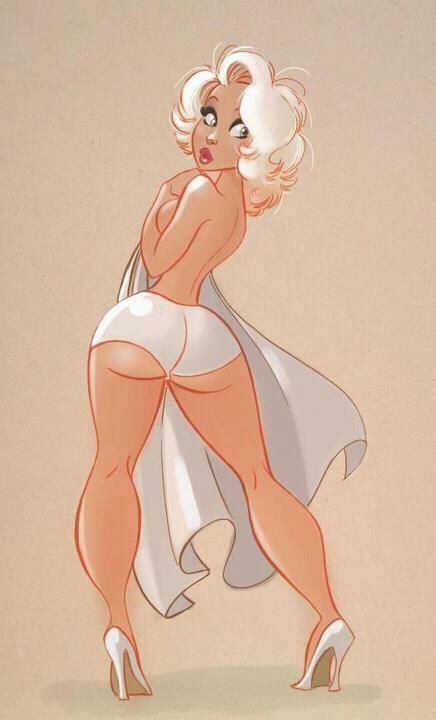 Drawn pin up  animated Curvy girl pin images best