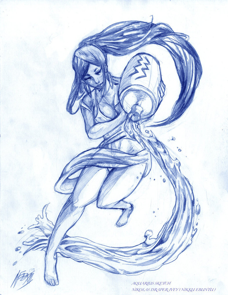 Drawn pin up  aquarius By love Aries BITCH! Pinterest