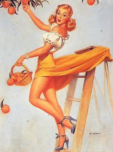 Drawn pin up  bartender Images WWII Artwork: 368 famous
