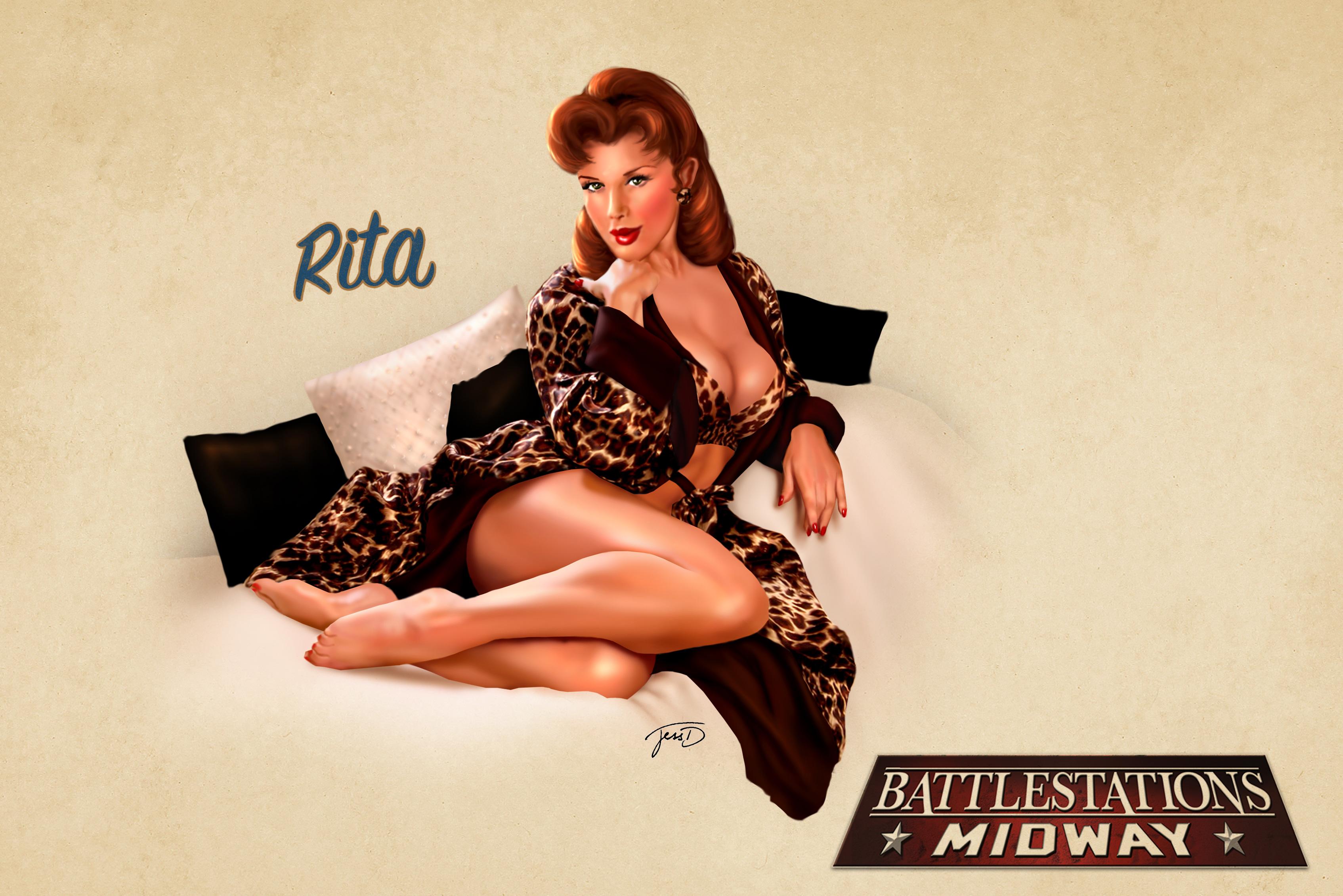 Drawn pin up  battlestations midway Rita Rita Illustrations Pin Midway