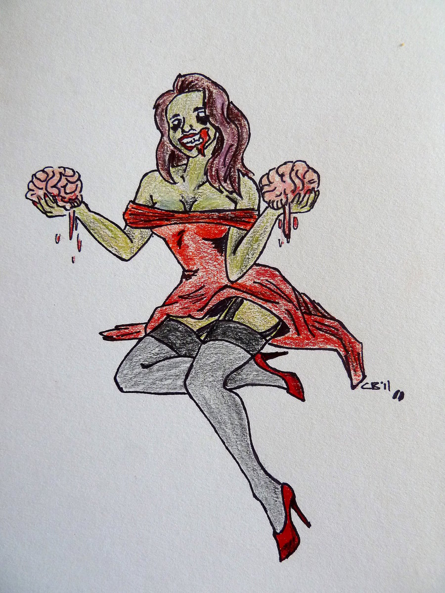 Drawn pin up  bday DeviantArt on Pinup Zombie by