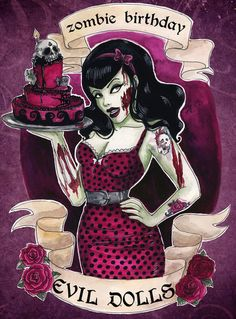 Drawn pin up  bday Art zombie Drawings on by