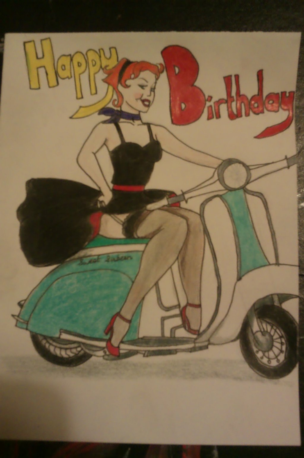 Drawn pin up  bday On Sparky1319 by Up Up