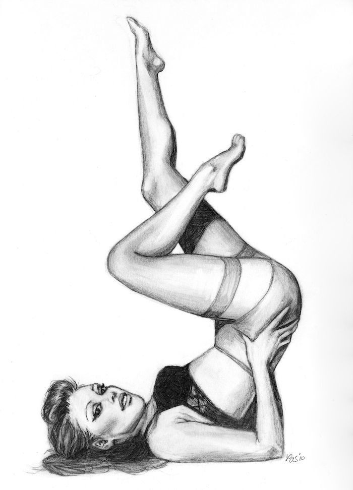 Drawn pin up  black and white Best drawing 67 Search up