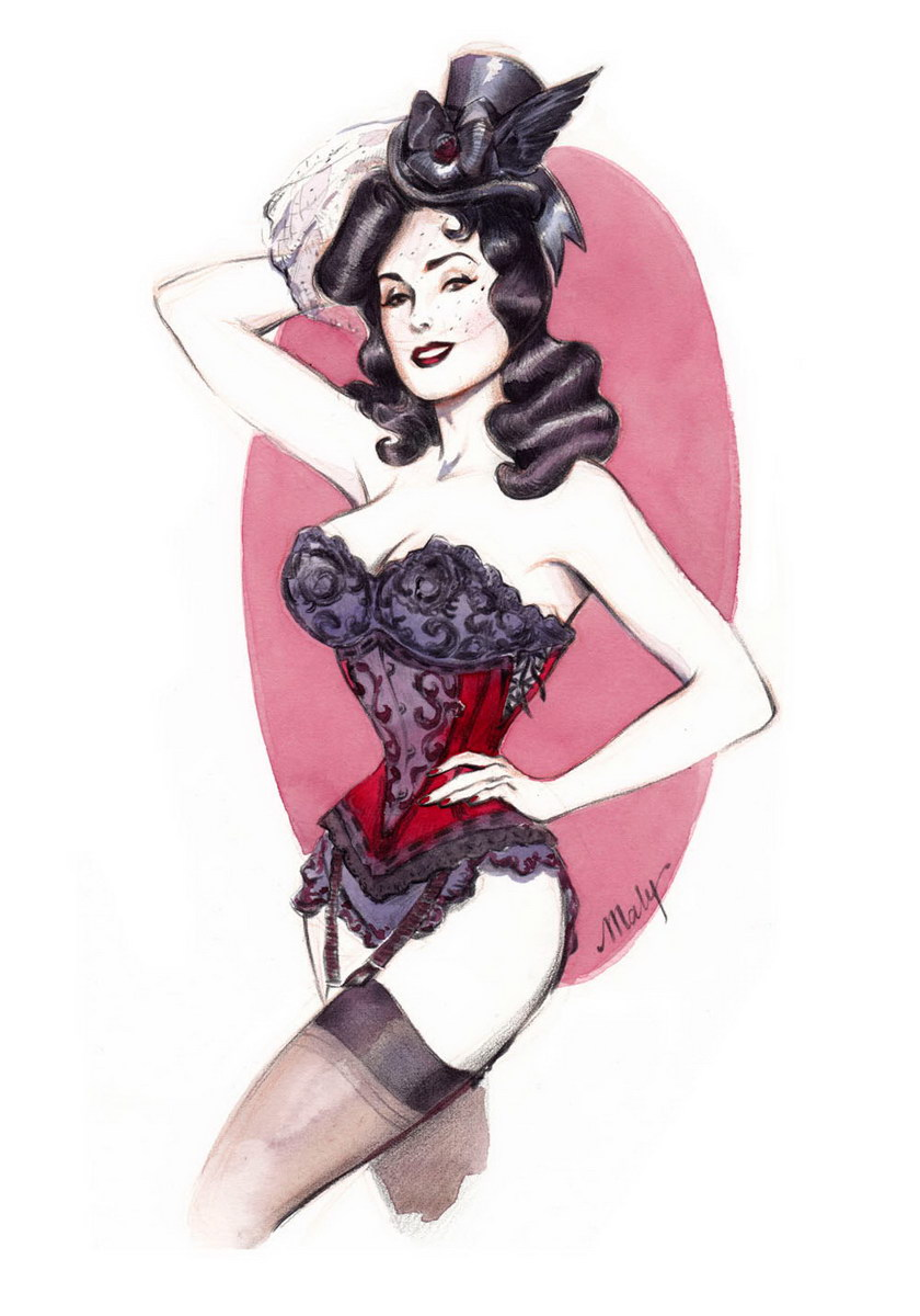 Drawn pin up  burlesque On more  Pin this