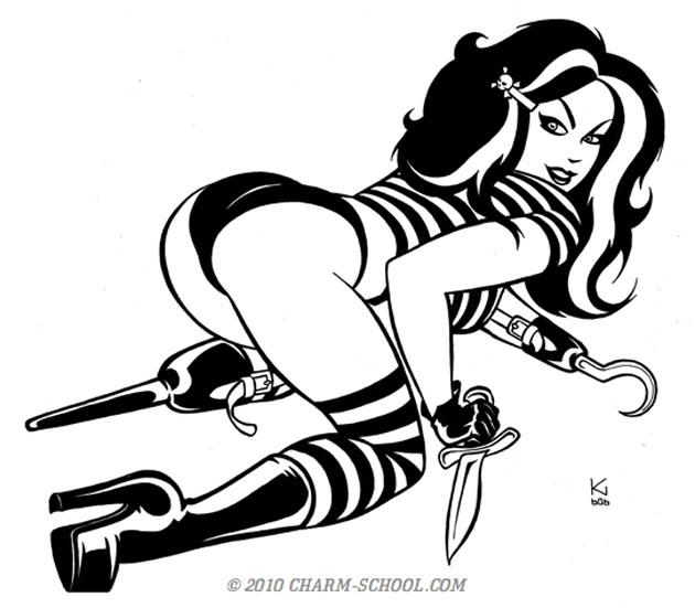 Drawn pin up  burlesque Of Art Krysztof The Up