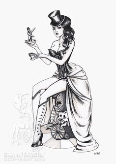 Drawn pin up  burlesque  by drawing ups Isobelvonfinklestein