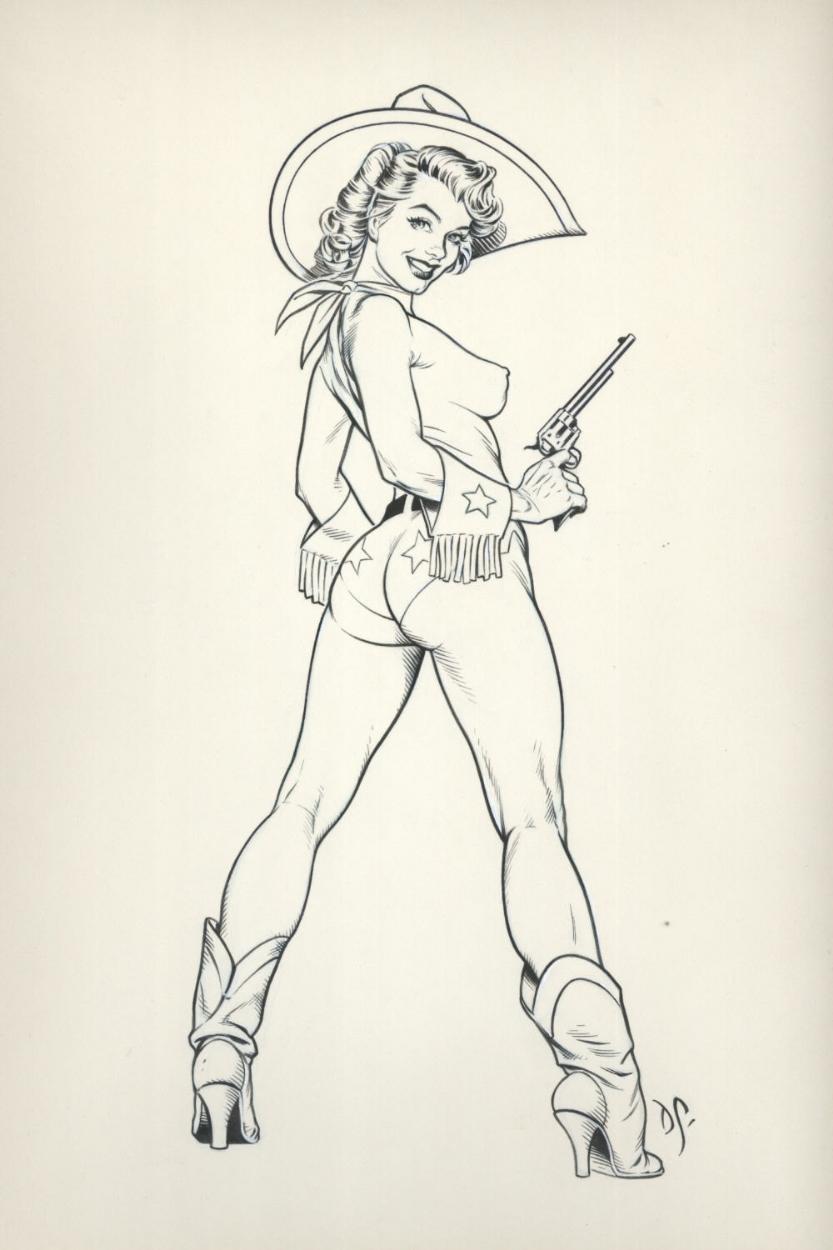 Drawn pin up  comic Marilyn Pinup Comic Pinup in