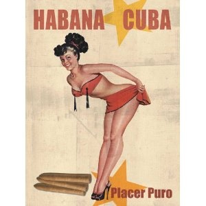 Drawn pin up  cuba Cuba images Havana Vintage posters