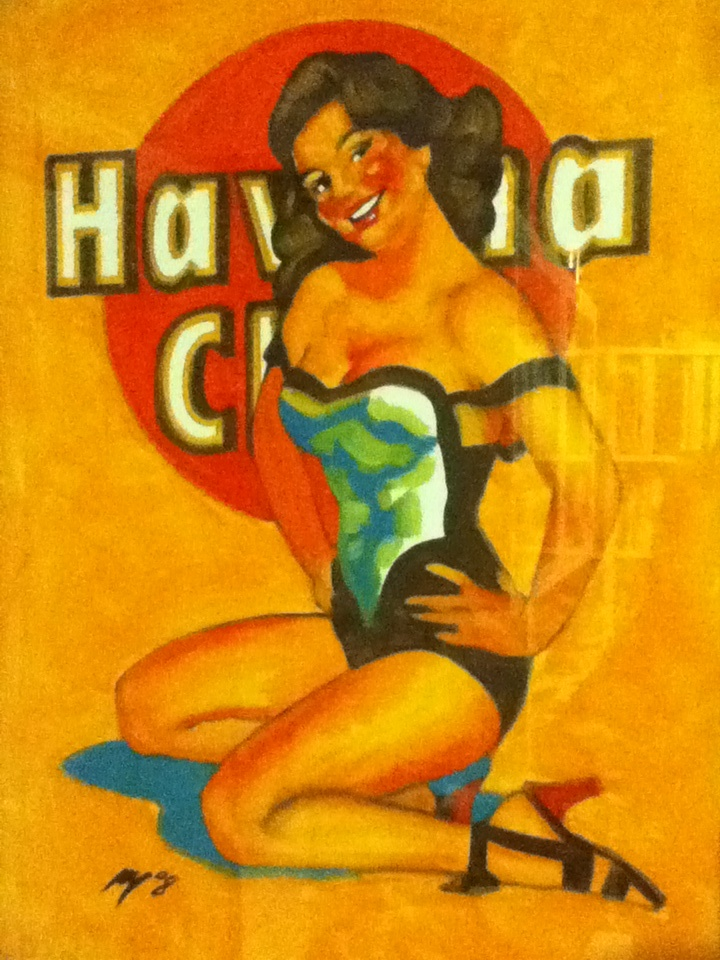 Drawn pin up  cuba Pinterest club Havana drawings Havana