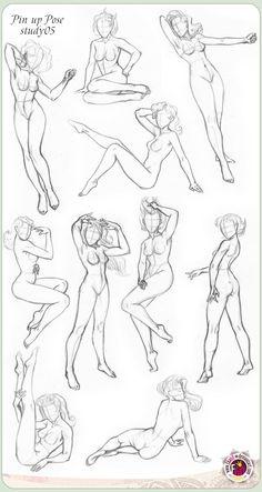 Drawn pin up  draw Pin study05 EKAGO GALEKA ten