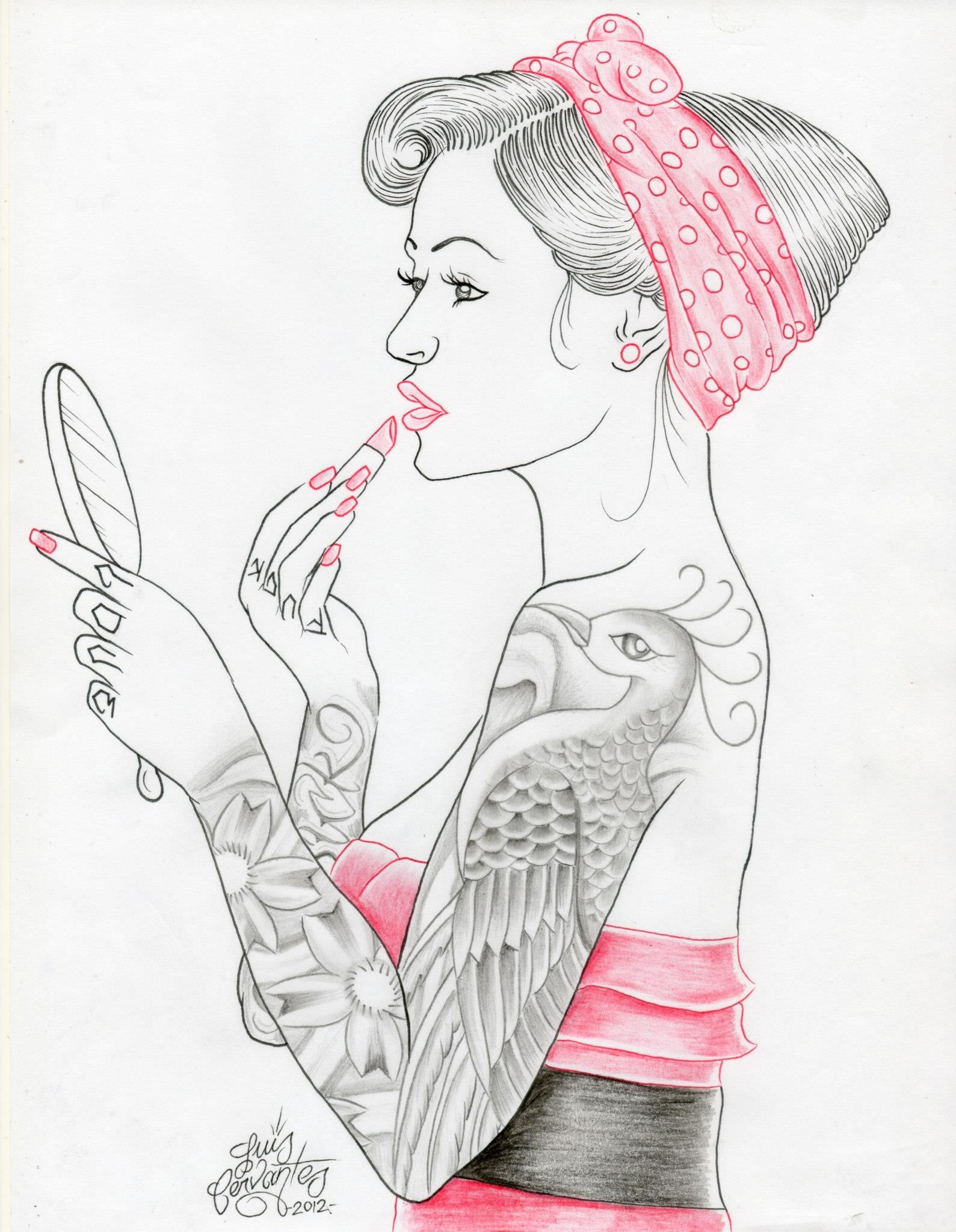 Drawn pin up  famous Drawing  clasick clasick1 Pin
