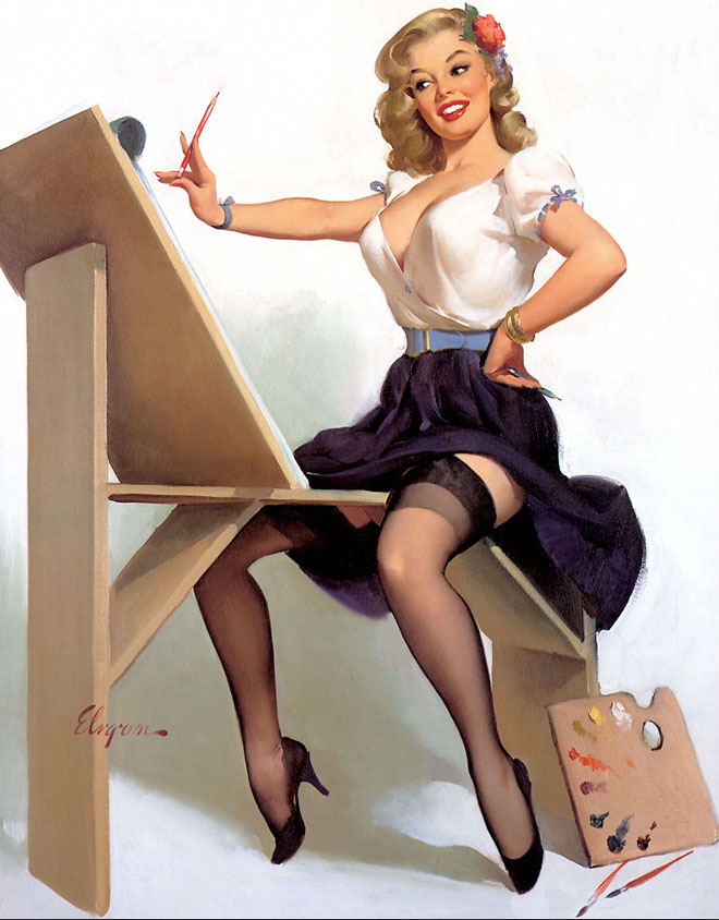 Drawn pin up  famous Pin Elvgren by Glamorous Read