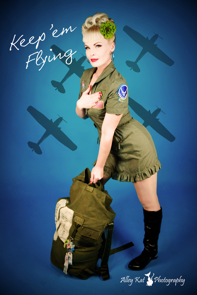 Drawn pin up  force Air Military Force Kat most