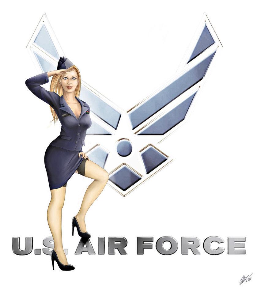 Drawn pin up  force USAF Up Pin Pin on