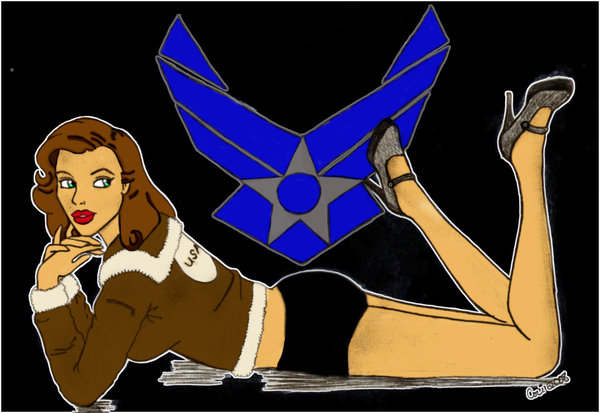 Drawn pin up  force Air Pinup Force Force on
