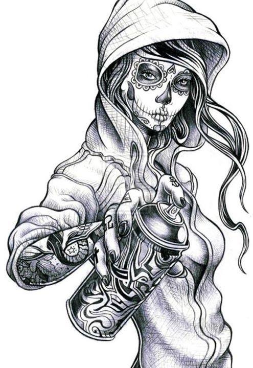 Drawn pin up  graffiti  hop Characters Graffiti Characters