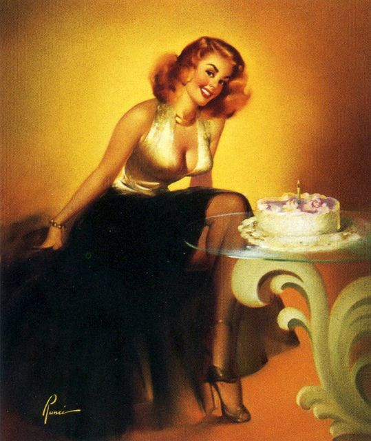 Drawn pin up  happy birthday #11
