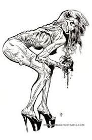Drawn pin up  ink drawing Pinterest Gothic up on Google
