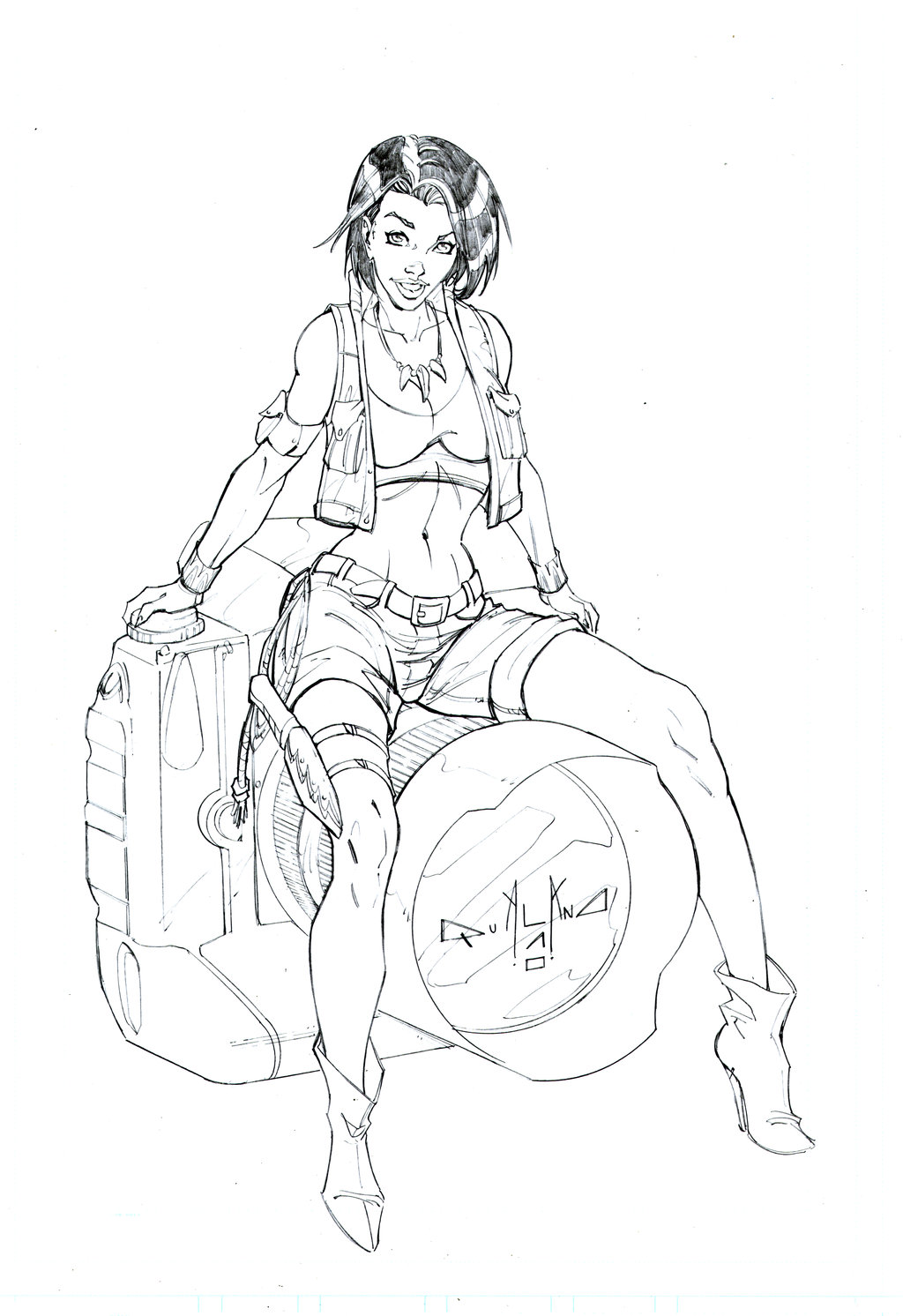 Drawn pin up  line art Comix on for by pin