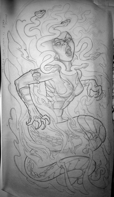 Drawn pin up  medusa Drawing images deviantart about best