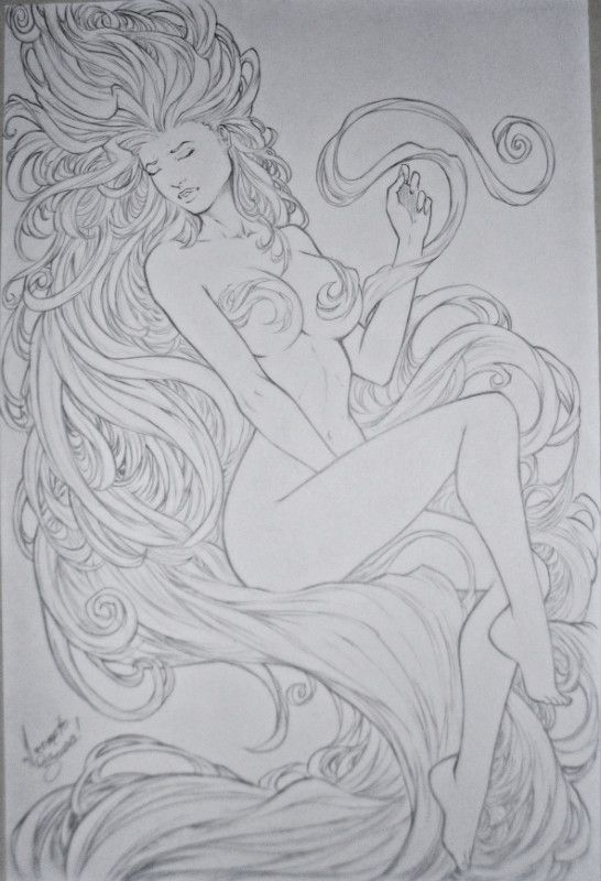 Drawn pin up  medusa IZONETO about Drawing Coloring images
