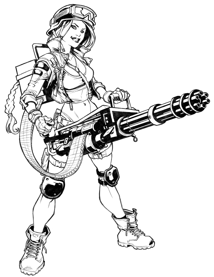 Drawn pin up  military Chick DeviantArt 2 by Military