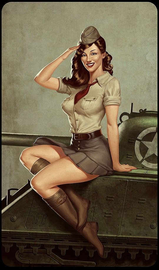 Drawn pin up  military Military 71 best Pin images