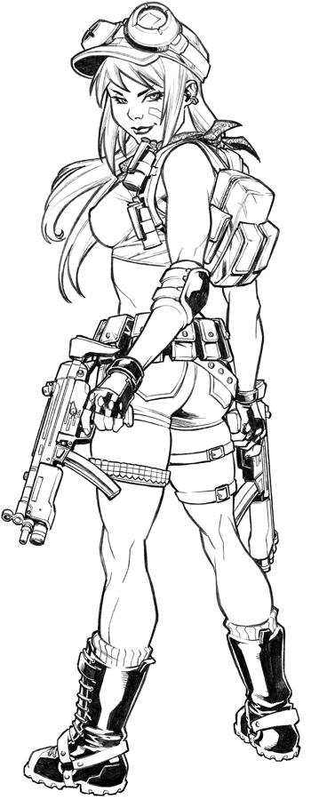 Drawn pin up  military Military  deviantART by CarlosGomezArtist