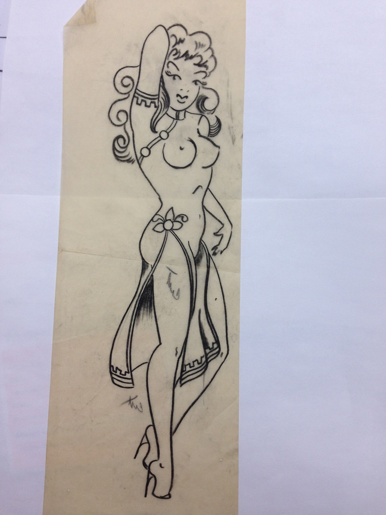 Drawn pin up  nautical 14