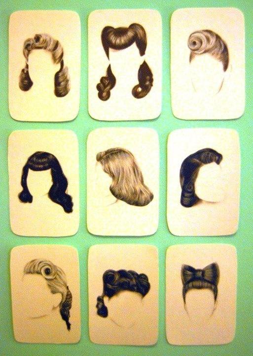 Drawn pin up  old time 17 hairstyles Make Vintage Up