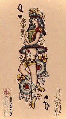 Drawn pin up  old time Queen Tatto Pinterest 38 Google