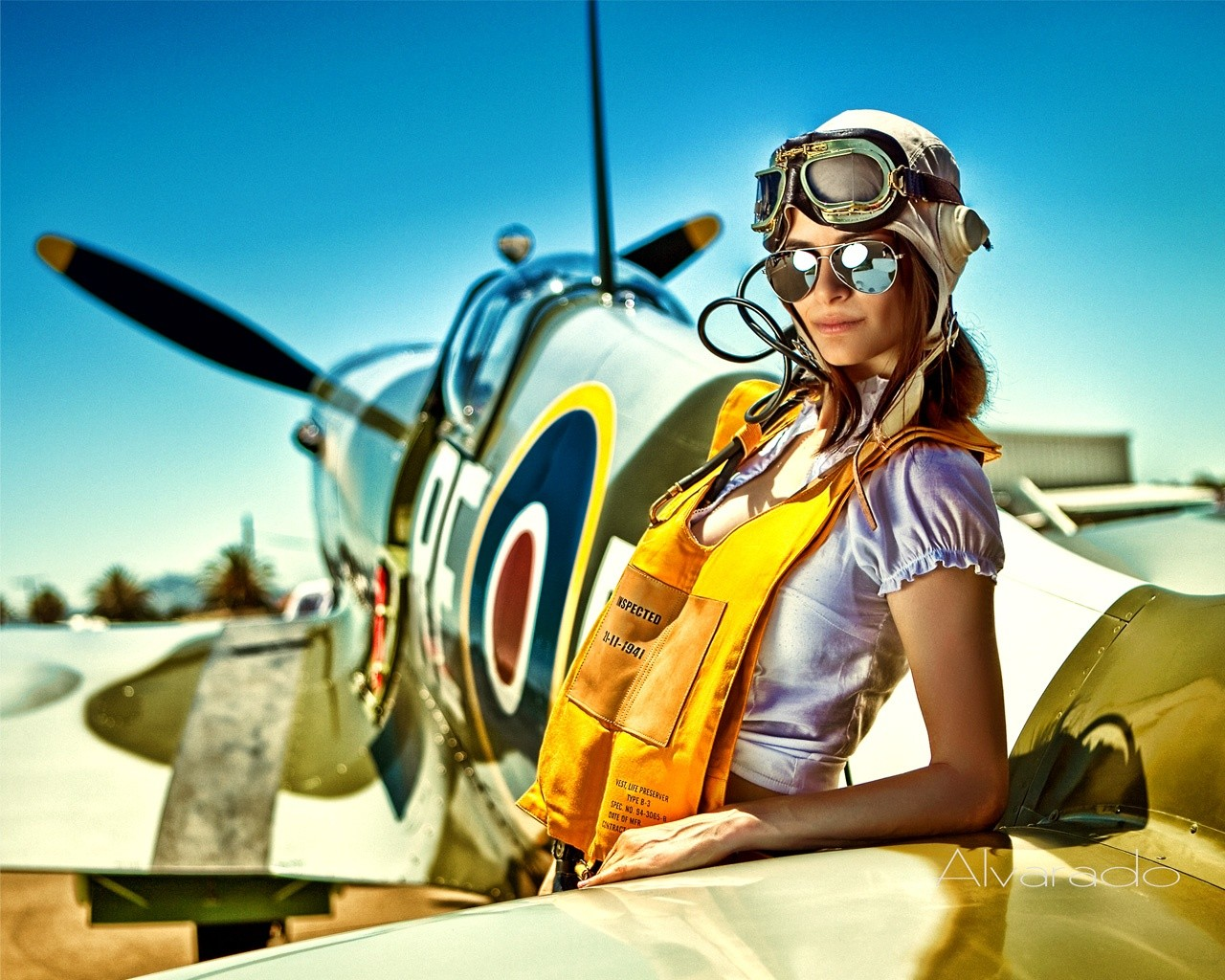 Drawn pin up  plane Pin pilots Find Spitfire more